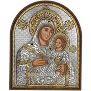 Божия Матерь Икона греческая, Серебряная 120 х 155 мм с позолотой на пластиковой основе Вифлеемская фото
