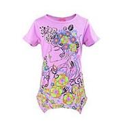 Эффектная футболка светло-розового цвета с коротким рукавом 6 фото