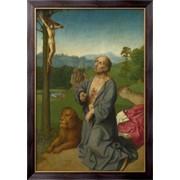 Картина Святой Иероним на фоне пейзажа, Неизвестен фото