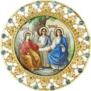 Накладка на митру серебряная Троица 2.7.0166 фото