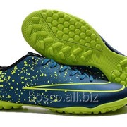 Футбольные сороконожки Nike Mercurial Victory V TF Squadron Blue/Black/Volt фото