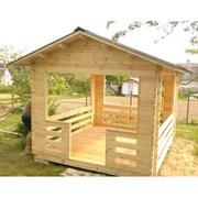 Беседка деревянная из бруса Комфорт Мини 2,5х2,5 м фото