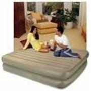 Надувная кровать INTEX 66704 Queen Rising Comfort 203*152*46 со встроенным насосом. фото