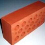 Кирпич керамический пустотелый одинарный красный КП-О фото