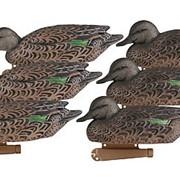 Чучела уток чирков самки GHG Pro-Grade Series Decoys, Early Season Green-Winged Teal Hens, 6- Pack фото