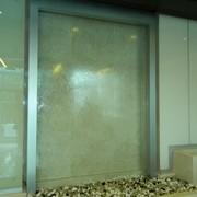 Водопад по стеклу стеклянный, зеркальный фото