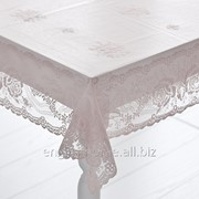 Скатертина з мереживом Alessa 100x100 рожевий фото
