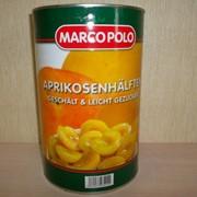 Абрикосы консервированные дольками Маркополо (Marcopolo) фото