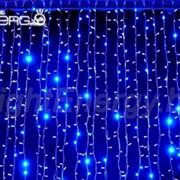 Светодиодная гирлянда Дождь 1.5×1м (синее свечение) фото