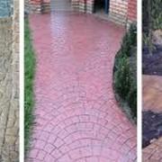 Штампованный бетон с декоративным покрытием фото