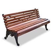 Скамейка чугунная «Белые ночи» фото