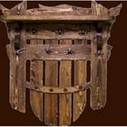 Вешалка для бани и сауны Старое дерево фото
