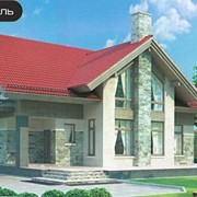 Проект комбинированного дома 54-28 фото