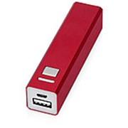"""Портативное зарядное устройство """"Спейс"""", 3000 mAh, красный фото"""