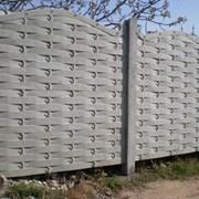 Бетонный забор,еврозабор,ограждение фото