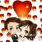 """Небесные фонарики """"Свадебный набор 20"""" Сердца 1031 фото"""