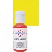 Гелевый краситель AmeriColor 21г. №107 Лимонно Желтый Lemon Yellow фото