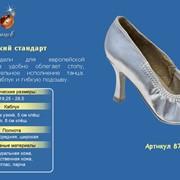 Танцевальная обувь `Женский стандарт`, классические модели для европейской программы. Союзка удобно облегает стопу, гарантируя блистательное исполнение танца. Имеют устойчивый каблук и гибкую подошву, Арт. 876-05 фото