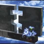 """Гранитный памятник (двойной) """"Воздушный крест"""" E-10 фото"""