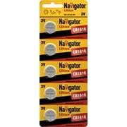 Батарейка Navigator 94779 CR1616 5шт. /20/ фото