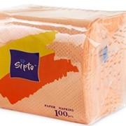 Салфетки бумажные Sipto цветные, 100 листов фото