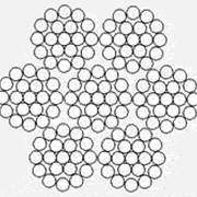 Металлотрос для конвейерных лент 6х19(1+6+12)+1х19(1+6+12) ТУ 14-4-701 фото
