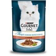 Gourmet 85г пауч Перл Влажный корм для взрослых кошек Утка (соус) фото
