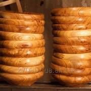 Виготовлення посуду із дерева фото