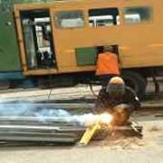 Агрегаты для электродуговой сварки трамвайных и железнодорожных путей фото