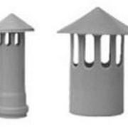 Элемент вентиляционный каминной трубы с длинным раструбом коричневый Ø110 фото