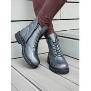 Женские ботинки на шнуровке и молнии в расцветках. ВВ-1-0918 фото