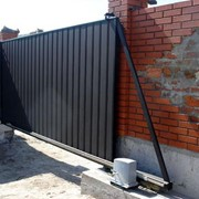 Установка консольных ворот фото