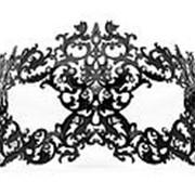 Чёрная металлическая маска Forrest Queen Masquerade фото