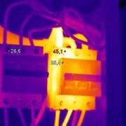 Тепловизионный контроль электрощита фото