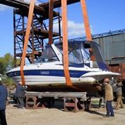Подъём яхт, лодок, катеров на зимний период фото