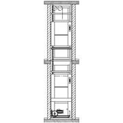 Лифты малые грузовые Раздвижные двери на уровне сервисной загрузки фото