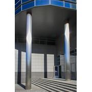 Облицовка колонн нержавеющей сталью фото