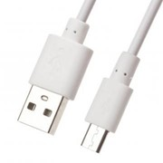 USB кабель «LP» Micro USB (1 метр) (белый/европакет) фото
