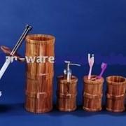 Бамбуковые аксессуары для ванной комнаты фото