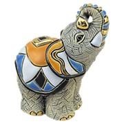"Статуэтка ""Азиатский слоненок"" 8х9,5х7,5см. арт.DR-F-357 De Rosa фото"