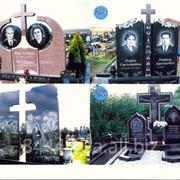 Гранитный двойной памятник №253 фото