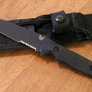 Нож Benchmade Nimravus, Black Aluminum Handle, Black Blade, Combo Edge фото