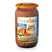 Puffins 650г конс. Влажный корм для взрослых кошек Телятина и баранина фото