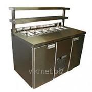 Холодильный стол BAR-480C Сarboma Салат нерж. сталь фото