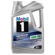 Моторное масло Mobil 1 High Mileage 10W-40 производитель США фото