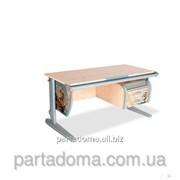 Стол универсальный трансформируемый СУТ.15-03 клен/серый с рисунком ,фрегат фото