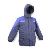 Куртка ИТР зимняя Протект серо-красная, сине-васельковая фото