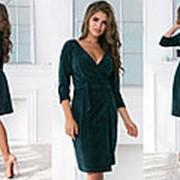 Платье женское с запахом ТК/-1230 - Изумруд фото