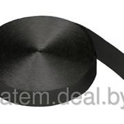 Стропа текстильная (лента ременная) 35 мм черная фото
