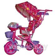 Велосипед детский трехколесный Чижик с колясочной ручкой фото